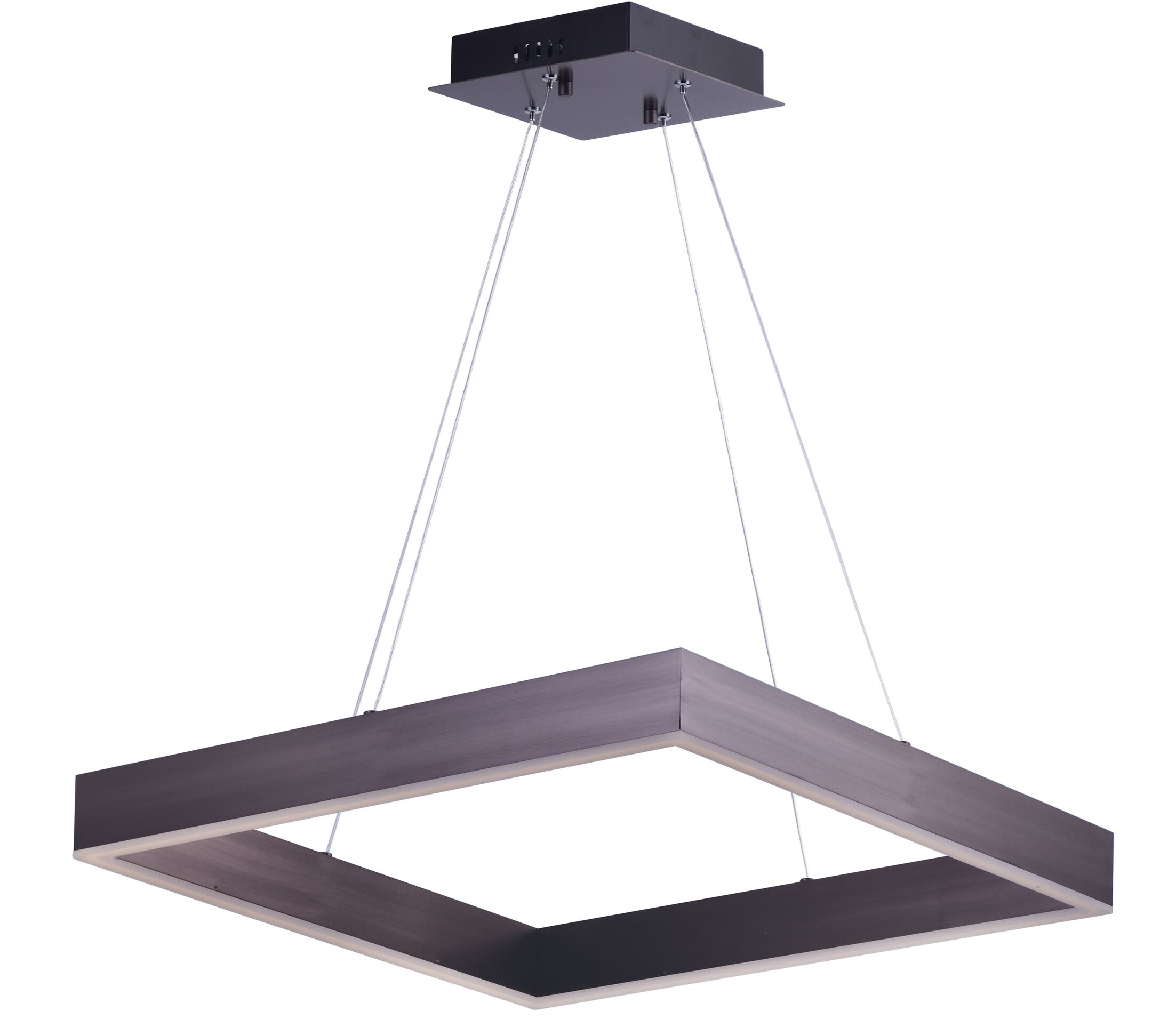 Acamar 1-Light LED Square/Rectangle Pendant Finish: Coffee