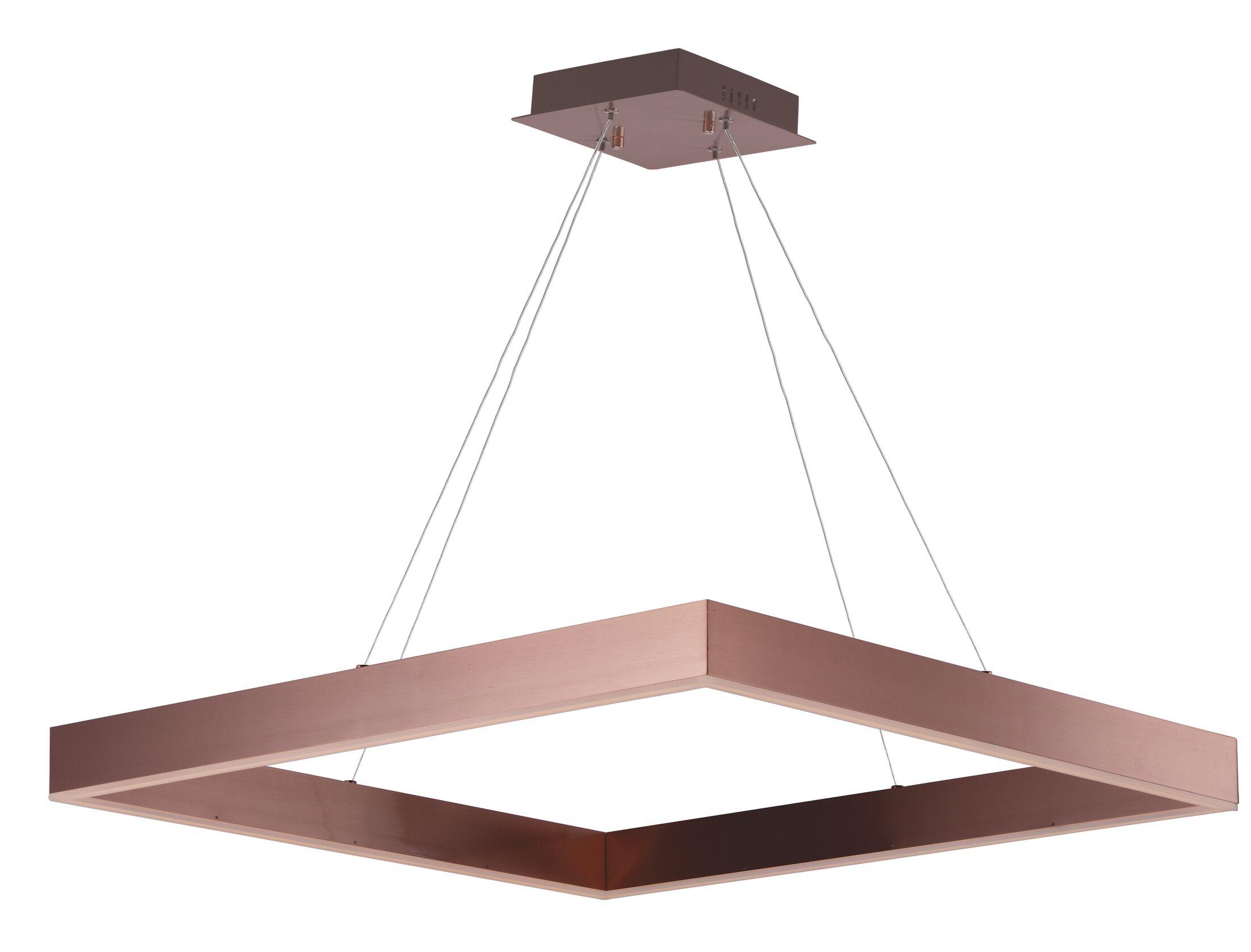 Acamar 1-Light Square/Rectangle Pendant Finish: Satin Copper