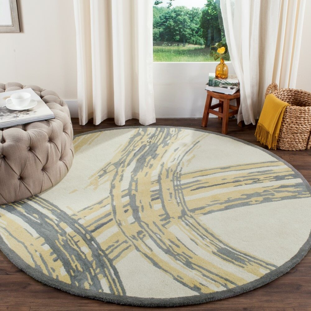 Martha Stewart Hand-Tufted Cement Area Rug Rug Size: Rectangle 9'6