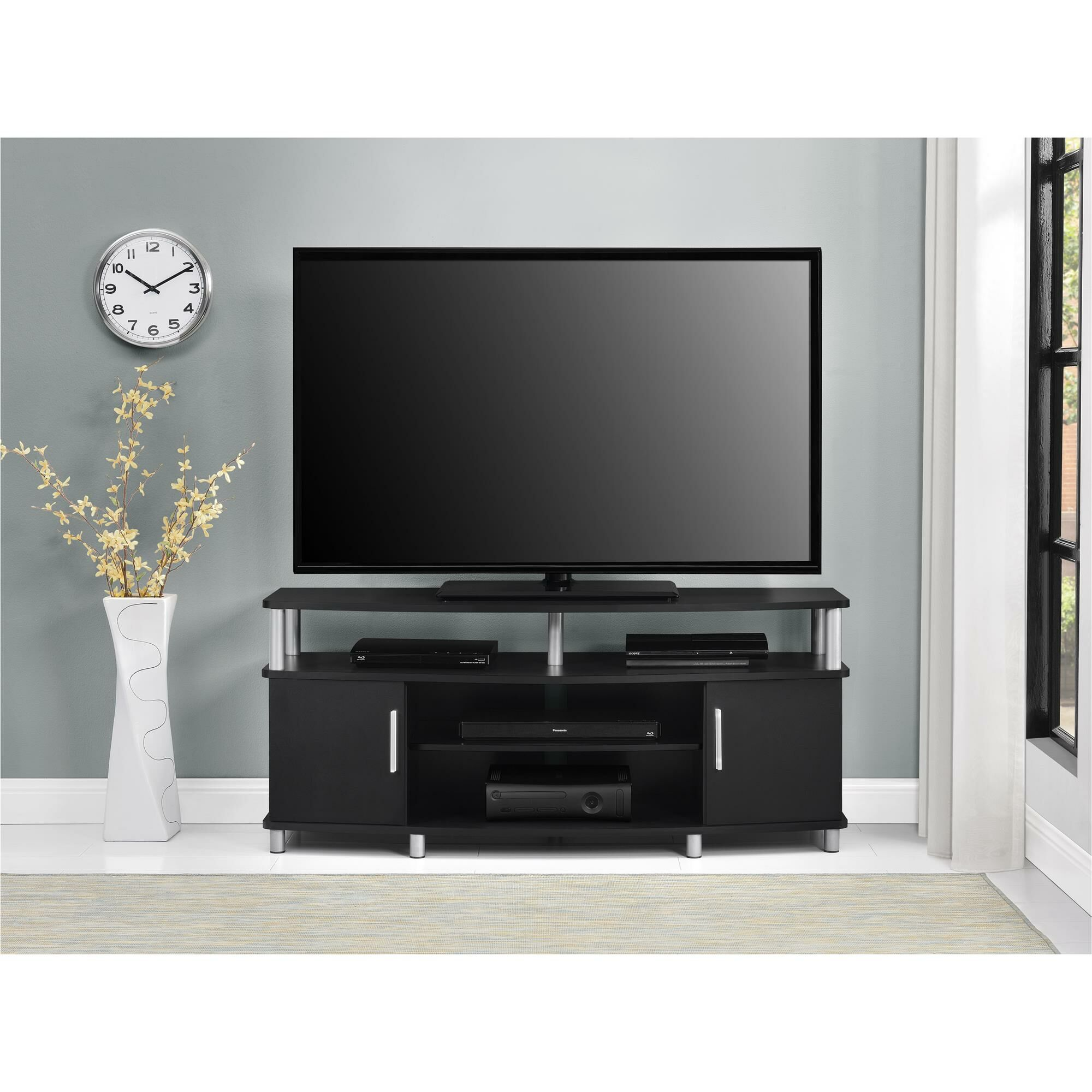 Elian TV Stand Color: Black, Size: 47.25