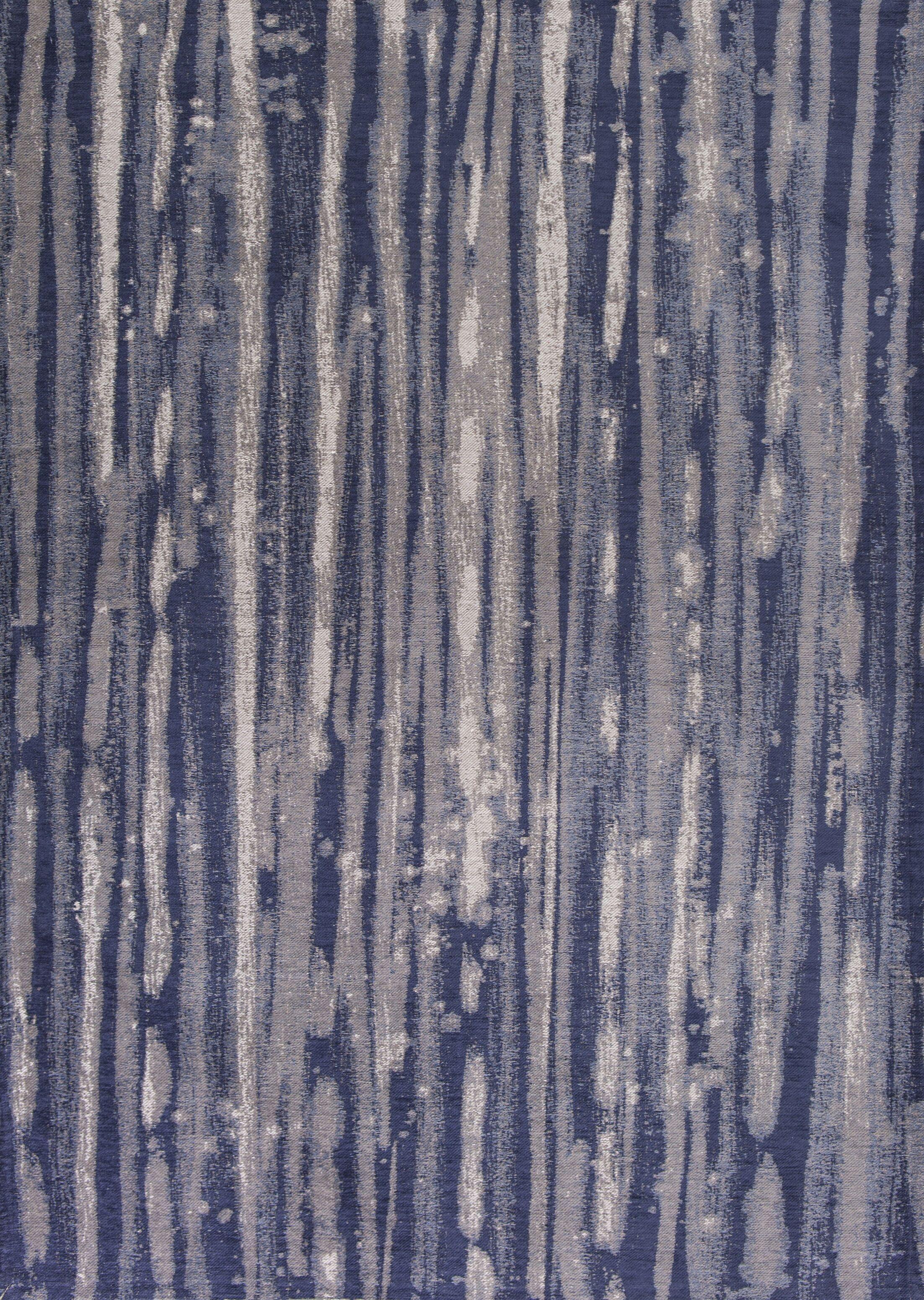 Edison Navy Blue/Ivory Area Rug Rug Size: 3'3