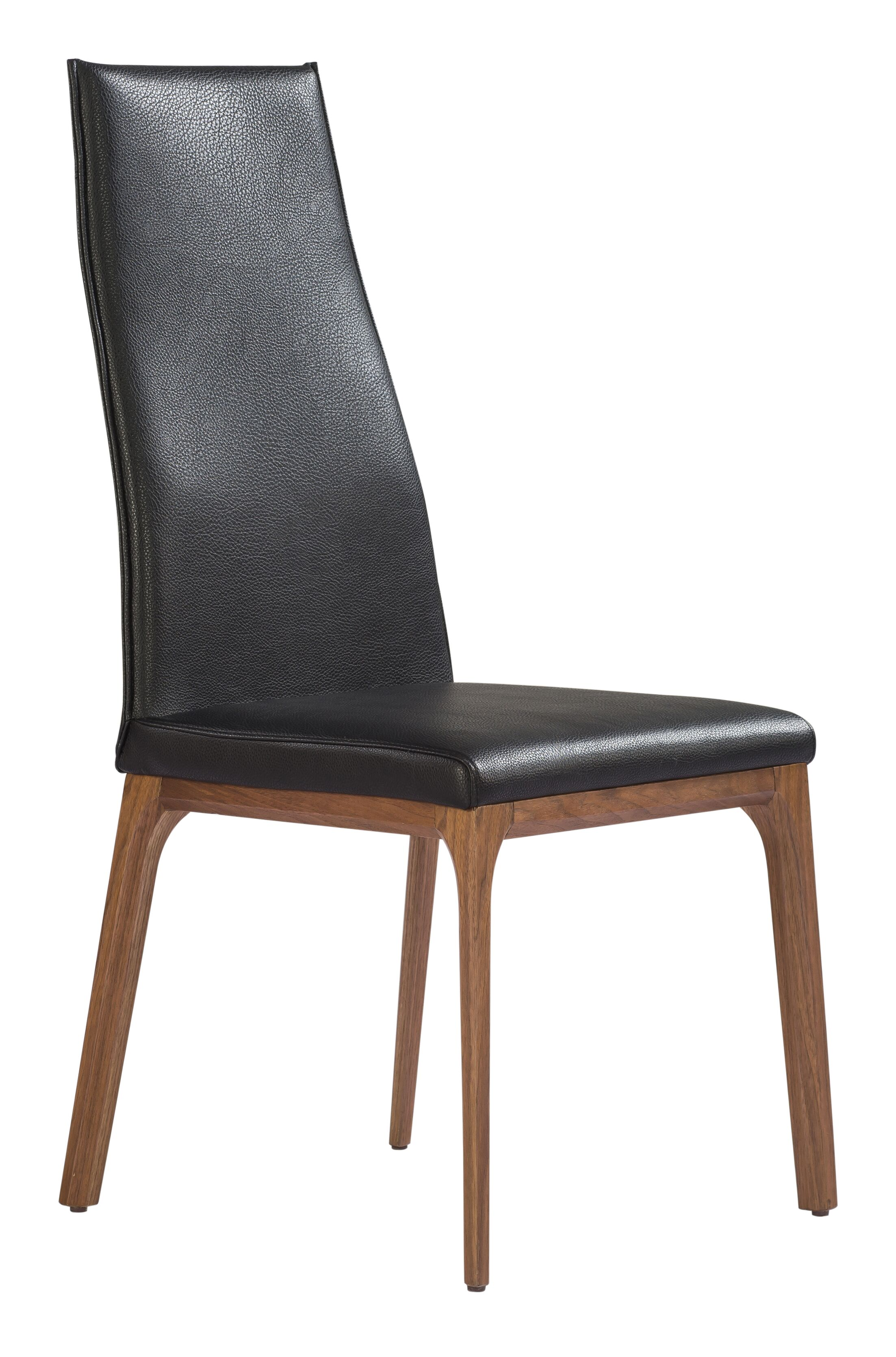 Bayerl Side Chair Upholstery Color: Dark Gray