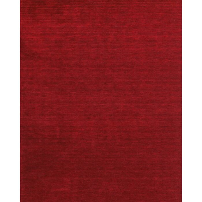 Ansh Hand Woven Red Area Rug Rug Size: Rectangle 5' x 8'