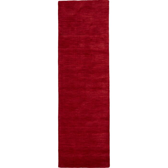 Ansh Hand Woven Red Area Rug Rug Size: Runner 2'6