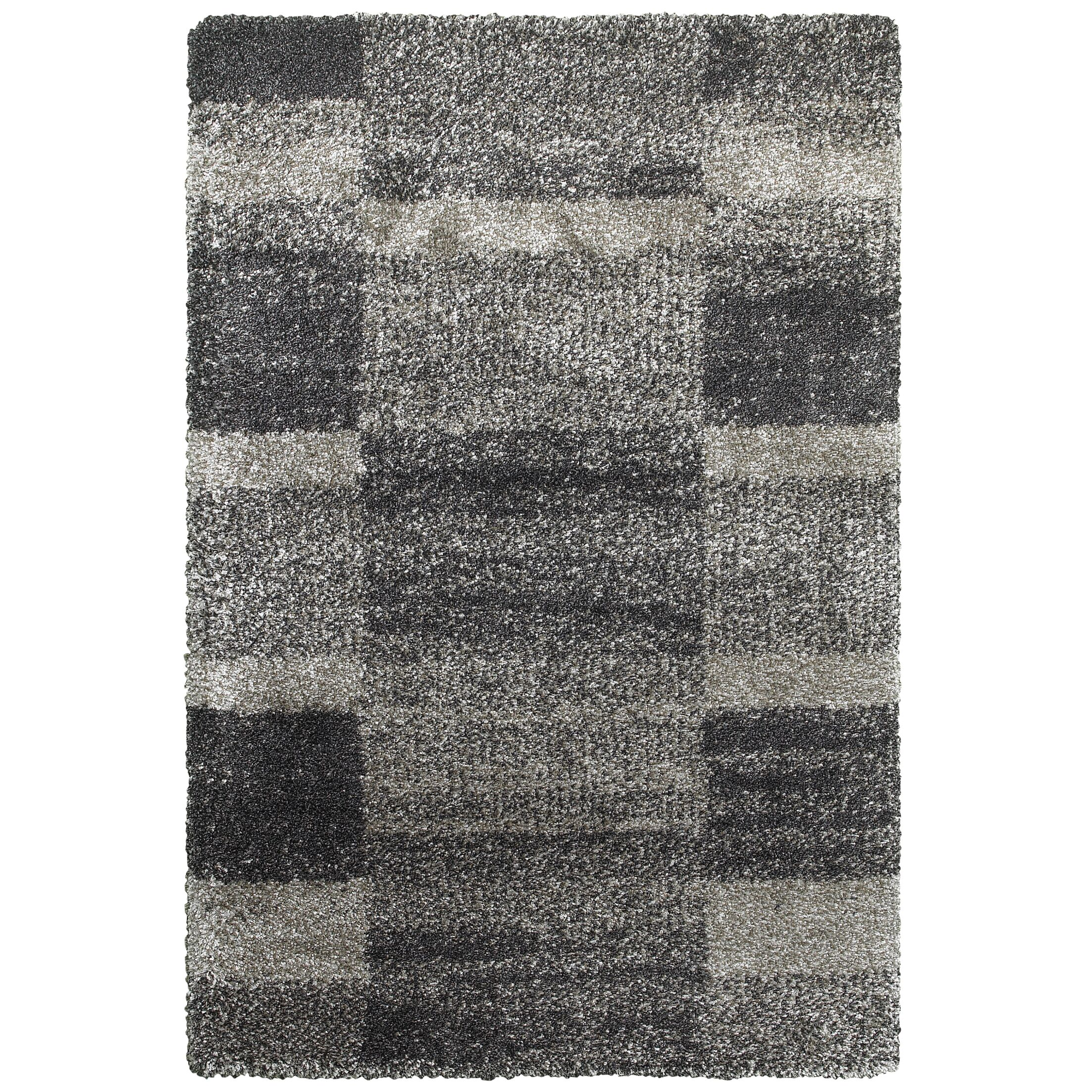 Leonard Gray/Charcoal Area Rug Size: Rectangle 7'10