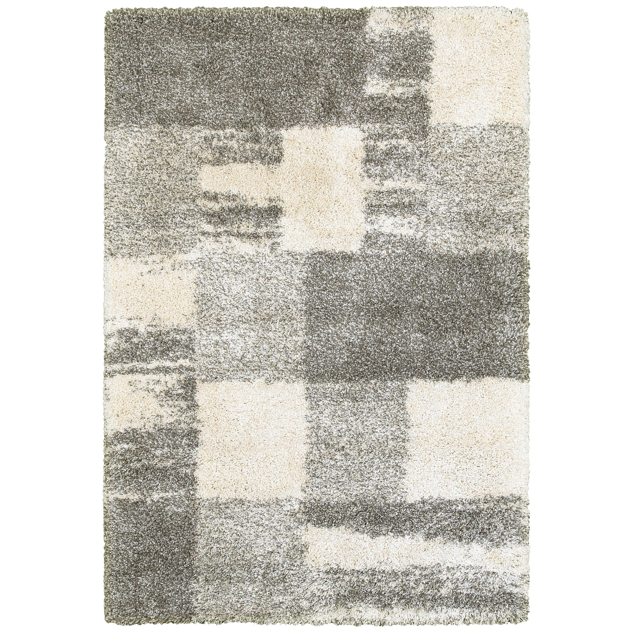 Leonard Ivory/Gray Area Rug Size: Rectangle 5'3