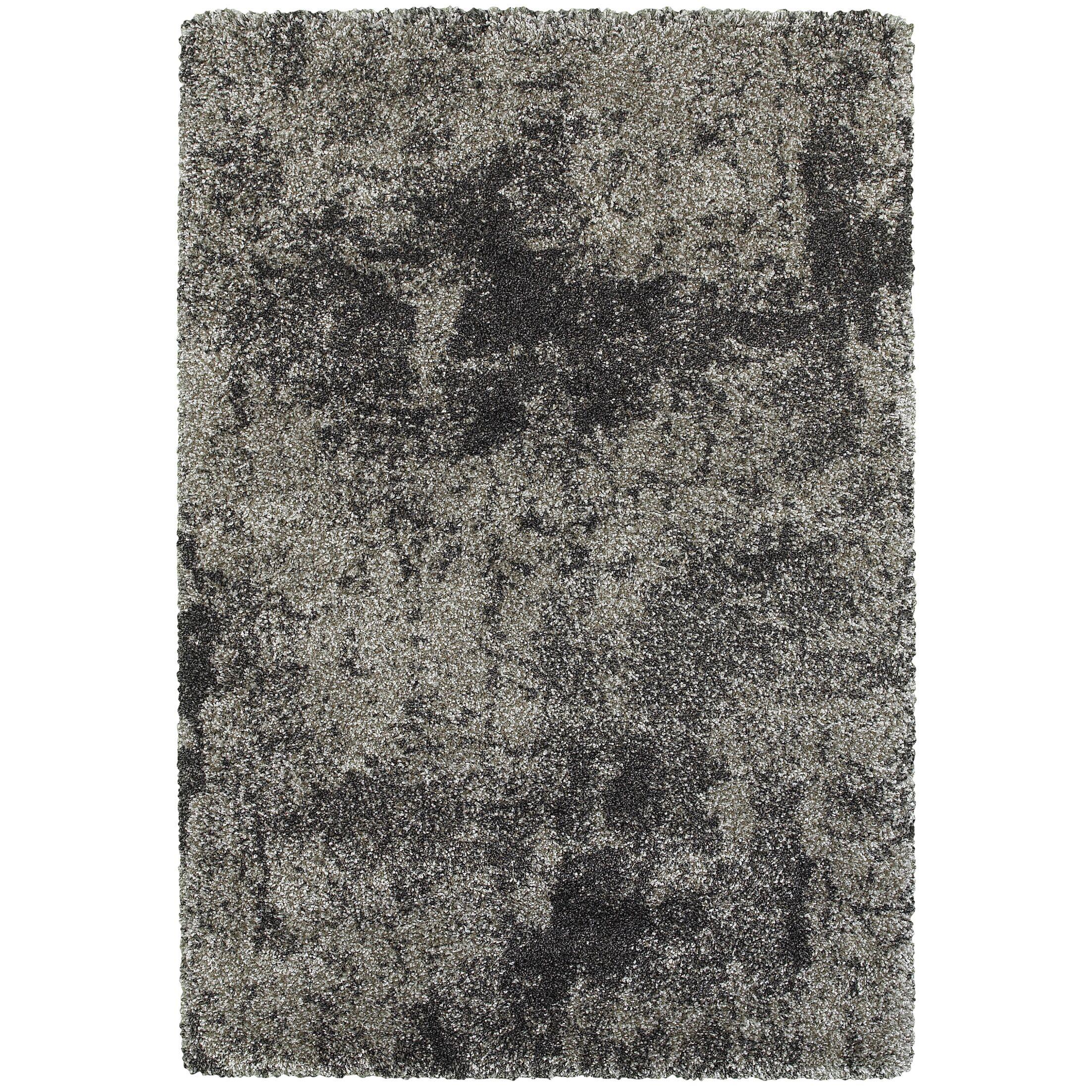 Leonard Gray/Charcoal Area Rug Size: Rectangle 3'10