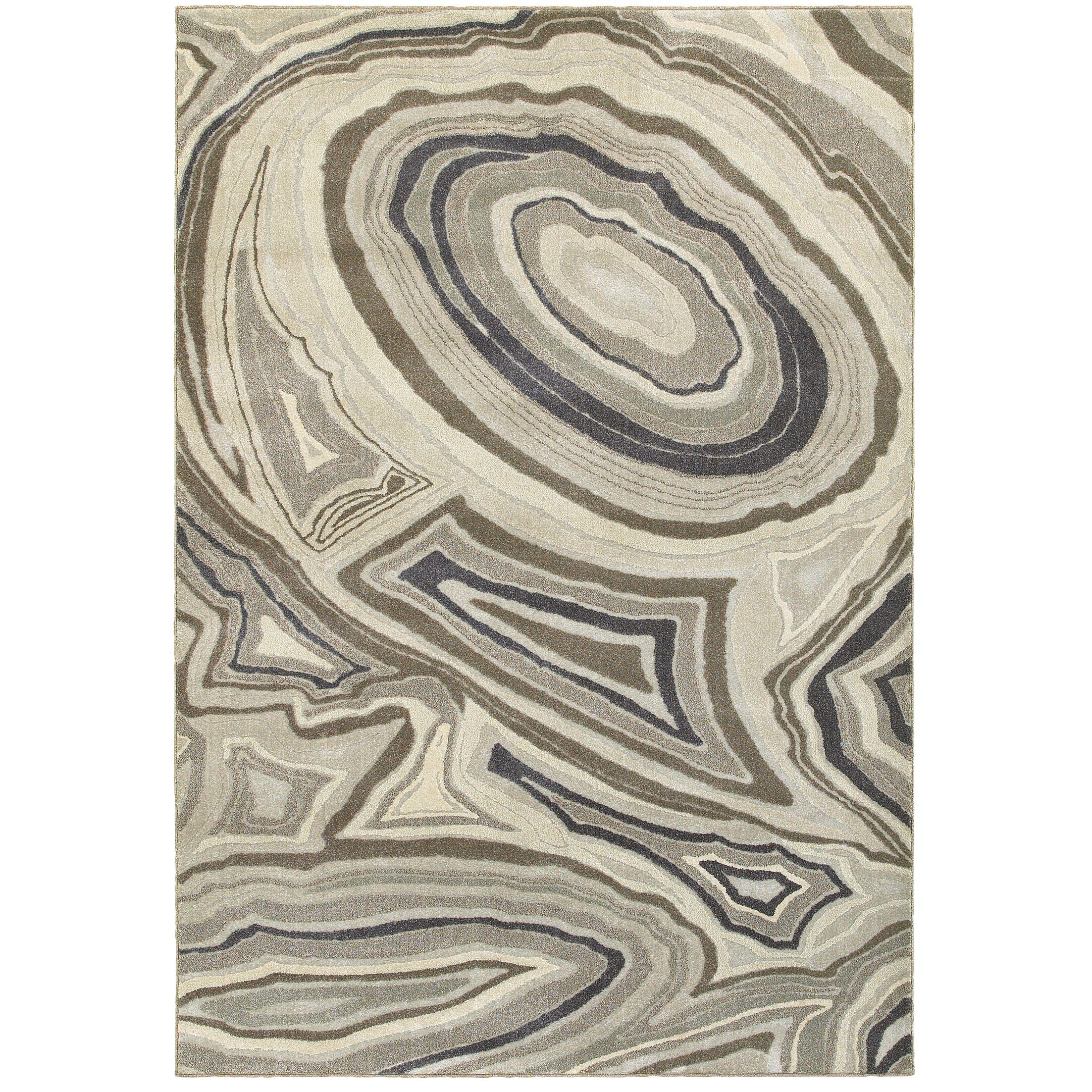 Leonidas Ivory/Gray Area Rug Size: Rectangle 6'7