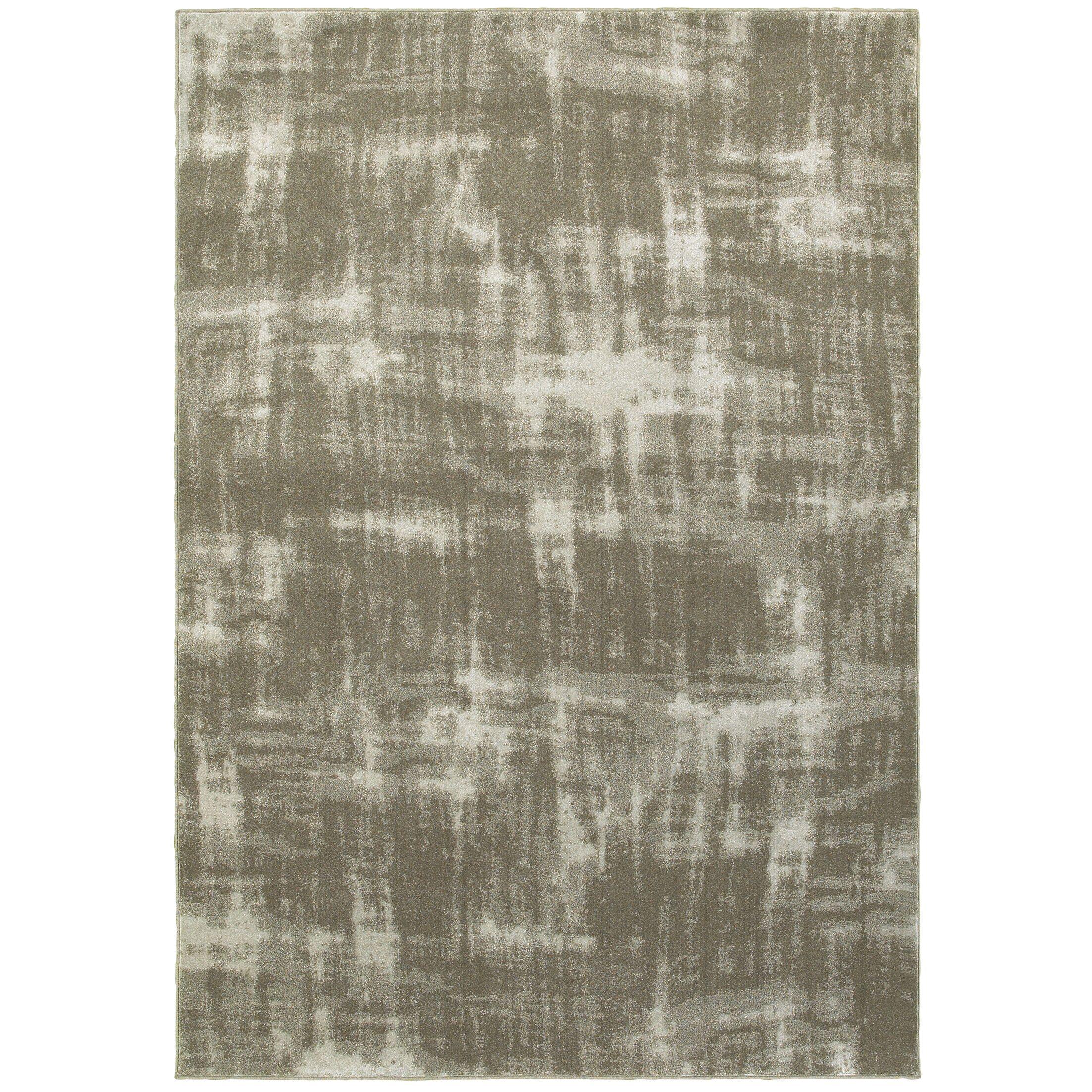 Leonidas Gray/Ivory Area Rug Size: Rectangle 9'10