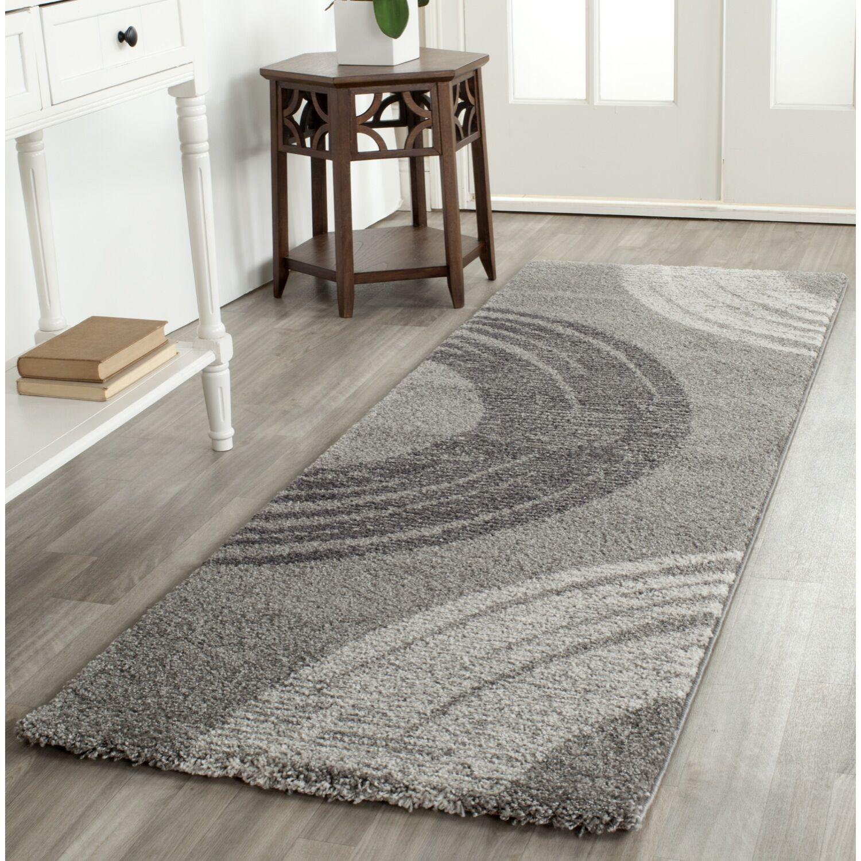 Burriss Light Gray Area Rug Rug Size: Rectangle 4' x 5'7
