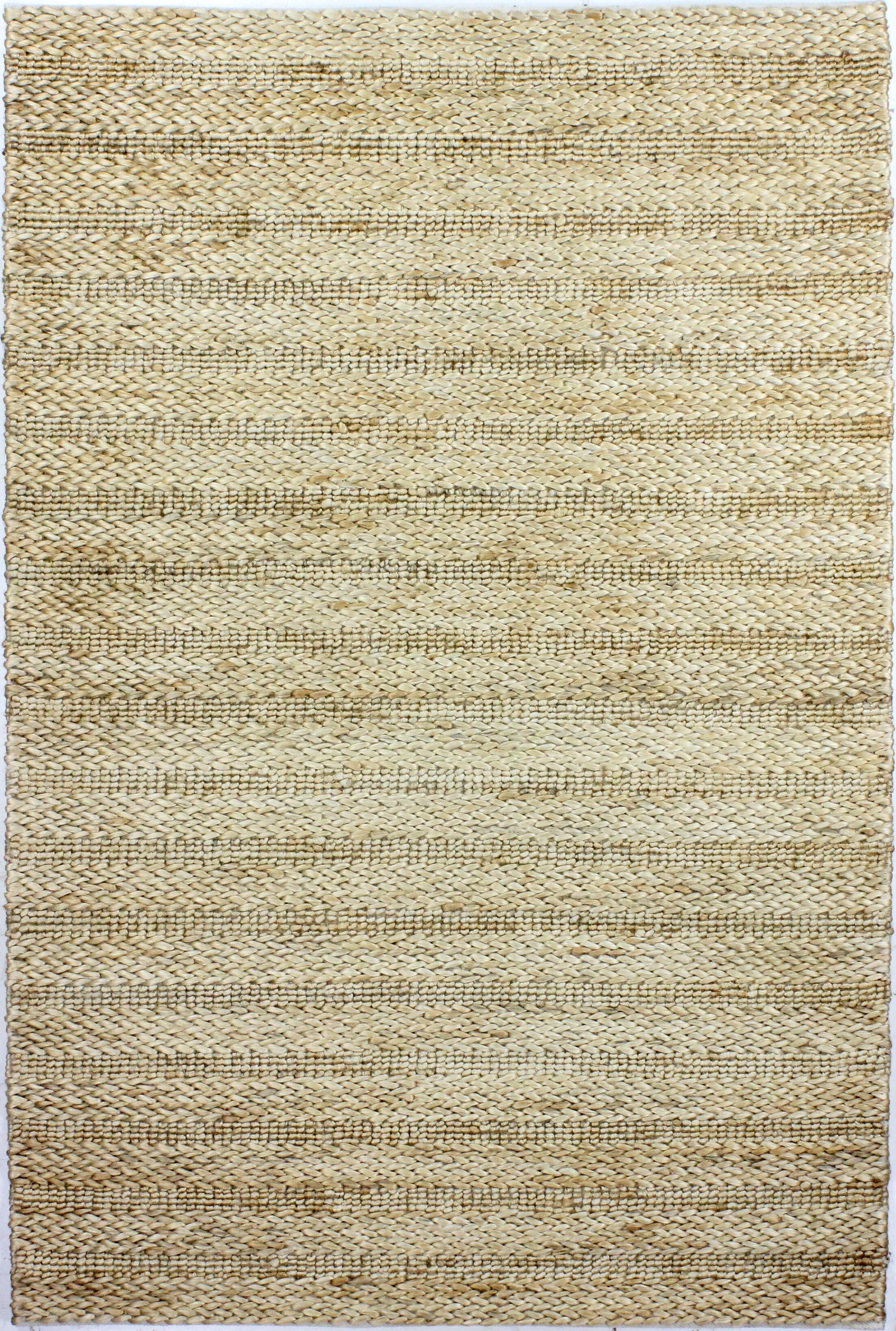Attleboro Hand-Woven Natural Area Rug Rug Size: 5' x 7'6