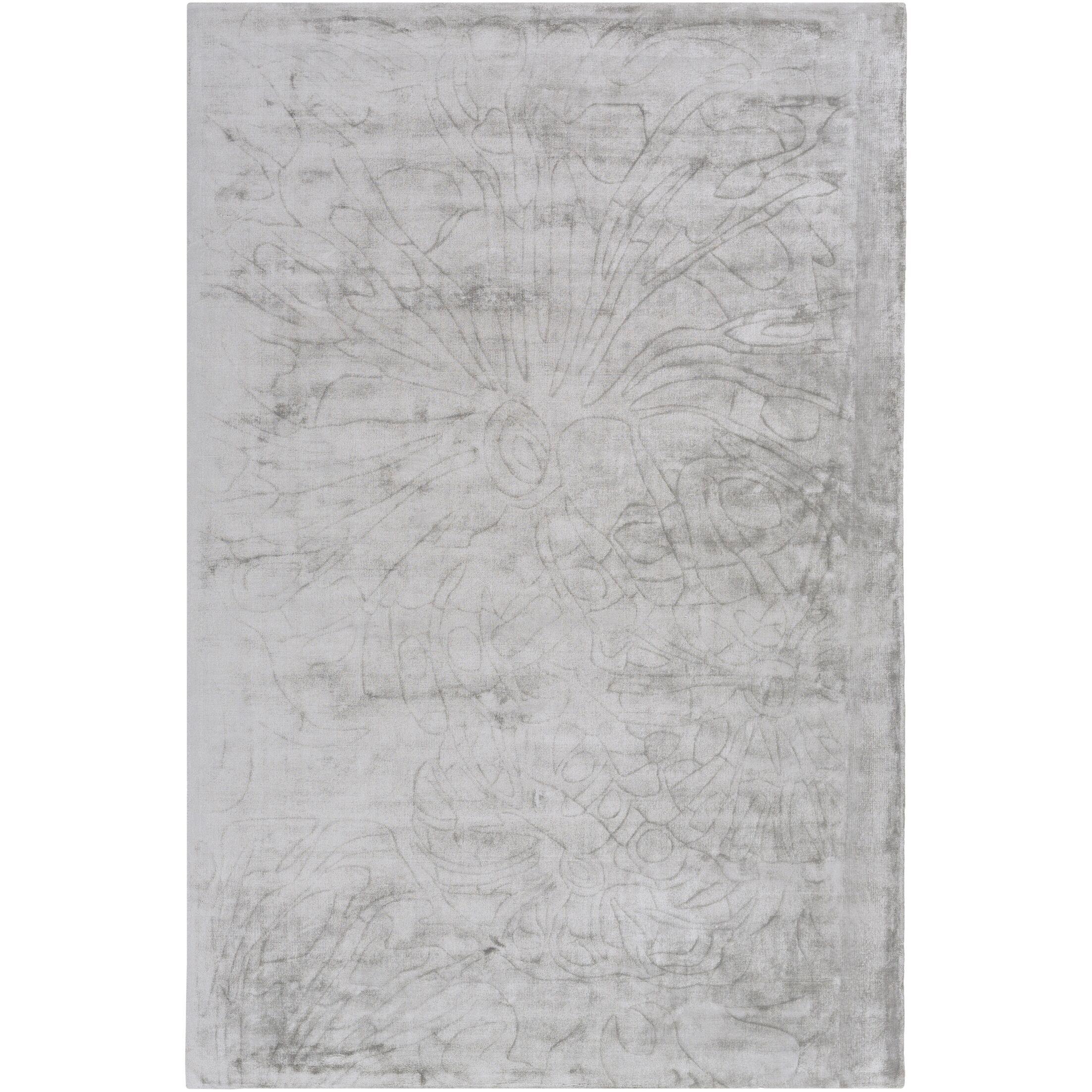 Ayala Hand-Loomed Medium Gray Area Rug Rug Size: Rectangle 2' x 3'