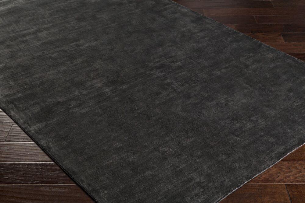 Ayala Hand-Loomed Black Area Rug Rug Size: Rectangle 4' x 6'