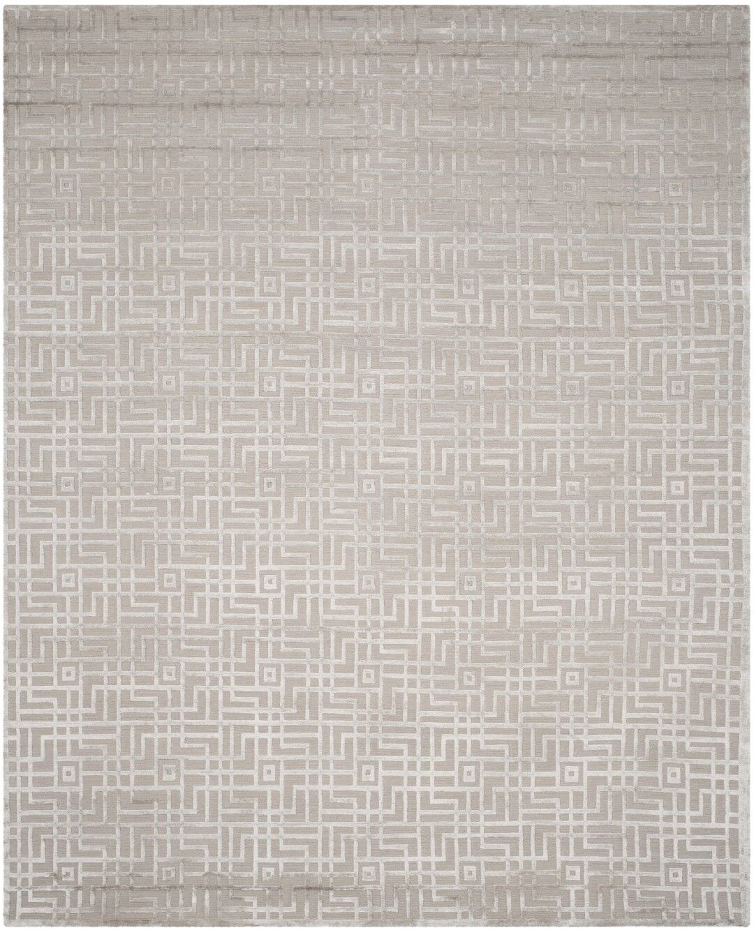 Ocellus Hand-Knotted Gray Area Rug Rug Size: Rectangle 10' x 14'