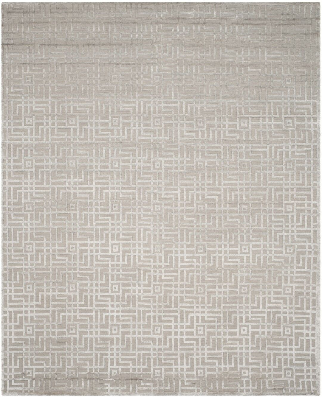 Ocellus Hand-Knotted Gray Area Rug Rug Size: Rectangle 6' x 9'