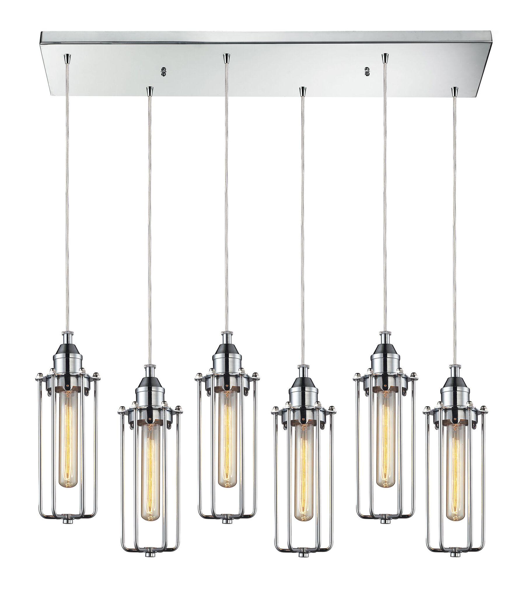 Rawlings Metal 6-Light Cluster Pendant
