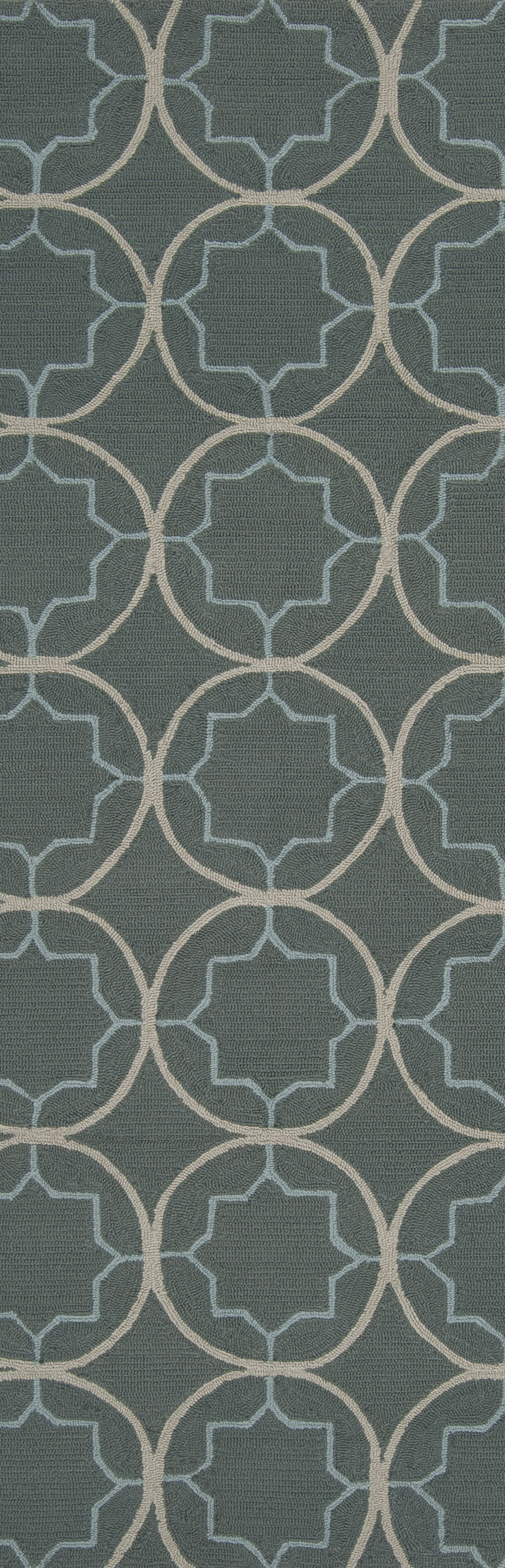 Becker Stormy Sea Circle Rug Rug Size: Runner 2'6