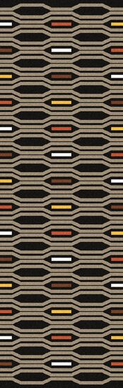 Litchfield Hand Woven Wool Black Olive Area Rug Rug Size: Runner 2'6