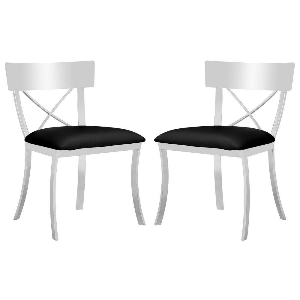 Burnside Side Chair Upholstery Color: Black