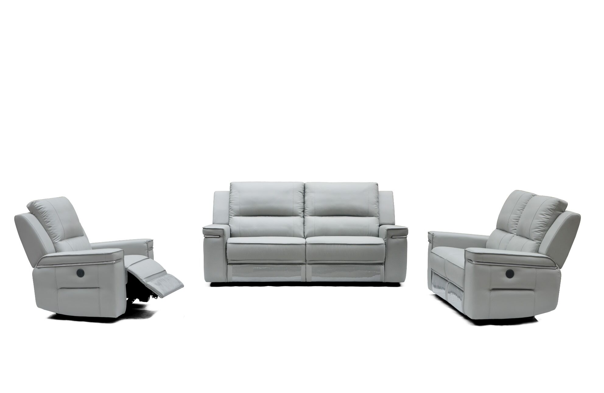 Colmar Reclining Leather 3 Piece Living Room Set