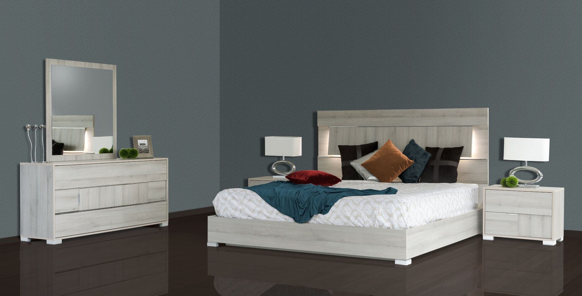 Febus Platform 5 Pieces Bedroom Set Size: King