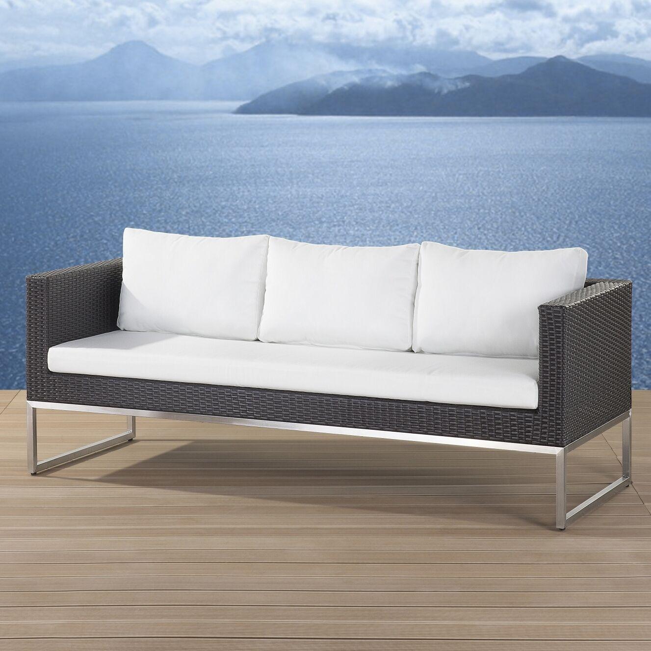 Mattis Sofa with Cushions Finish: Brown