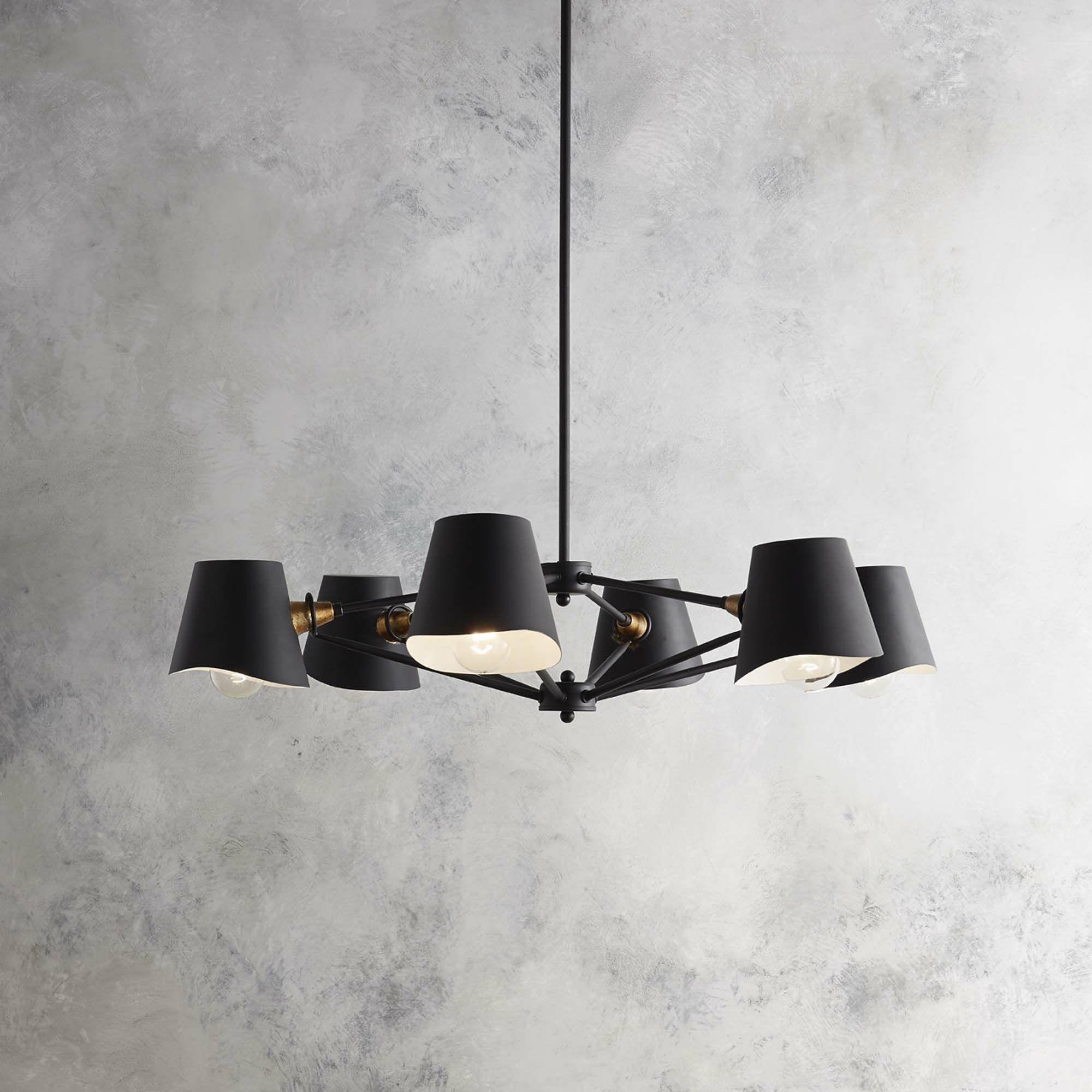 Longley 6-Light Shaded Chandelier
