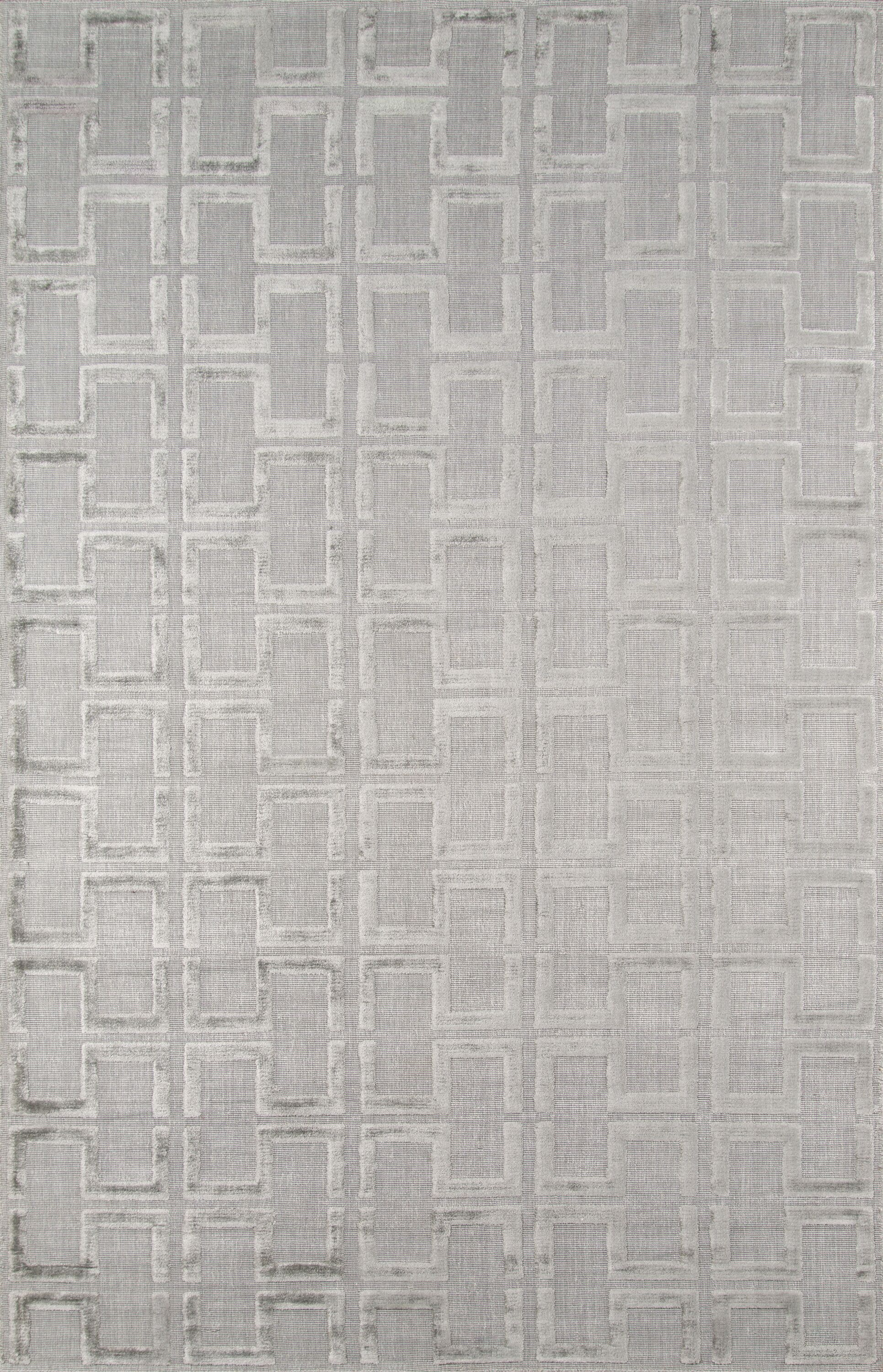 Roy Hand-Knotted Gray Area Rug Rug Size: Rectangle 9'6