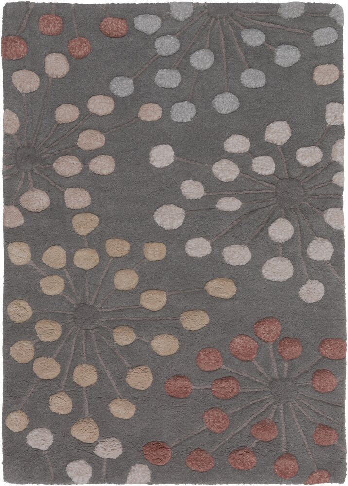 Alysa Green/Pewter Area Rug Rug Size: Rectangle 2' x 3'