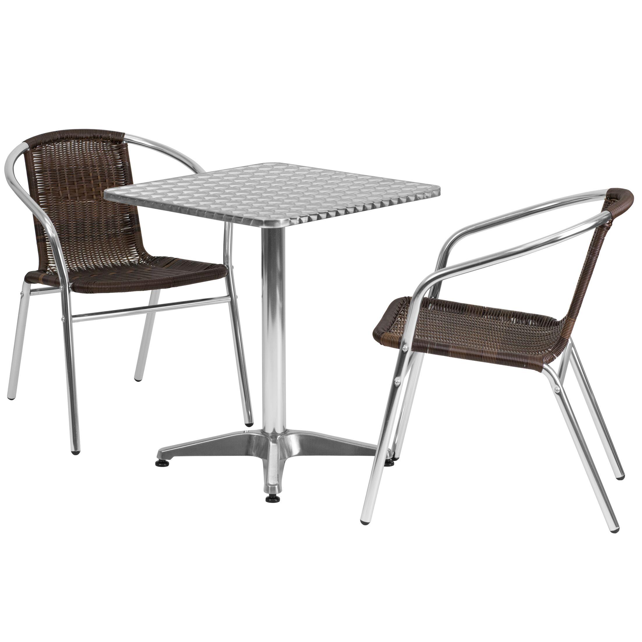 Mclendon Square 3 Piece Bistro Set Table Size: 27.25