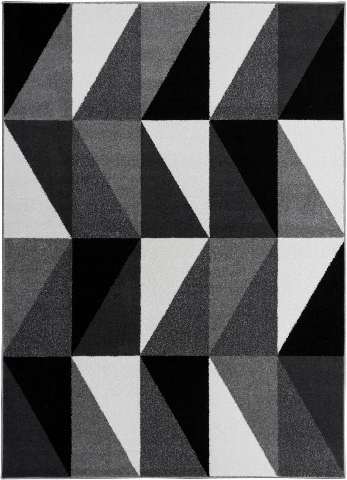 Mcanally Amazing Geometric Grey Area Rug Rug Size: 7'10