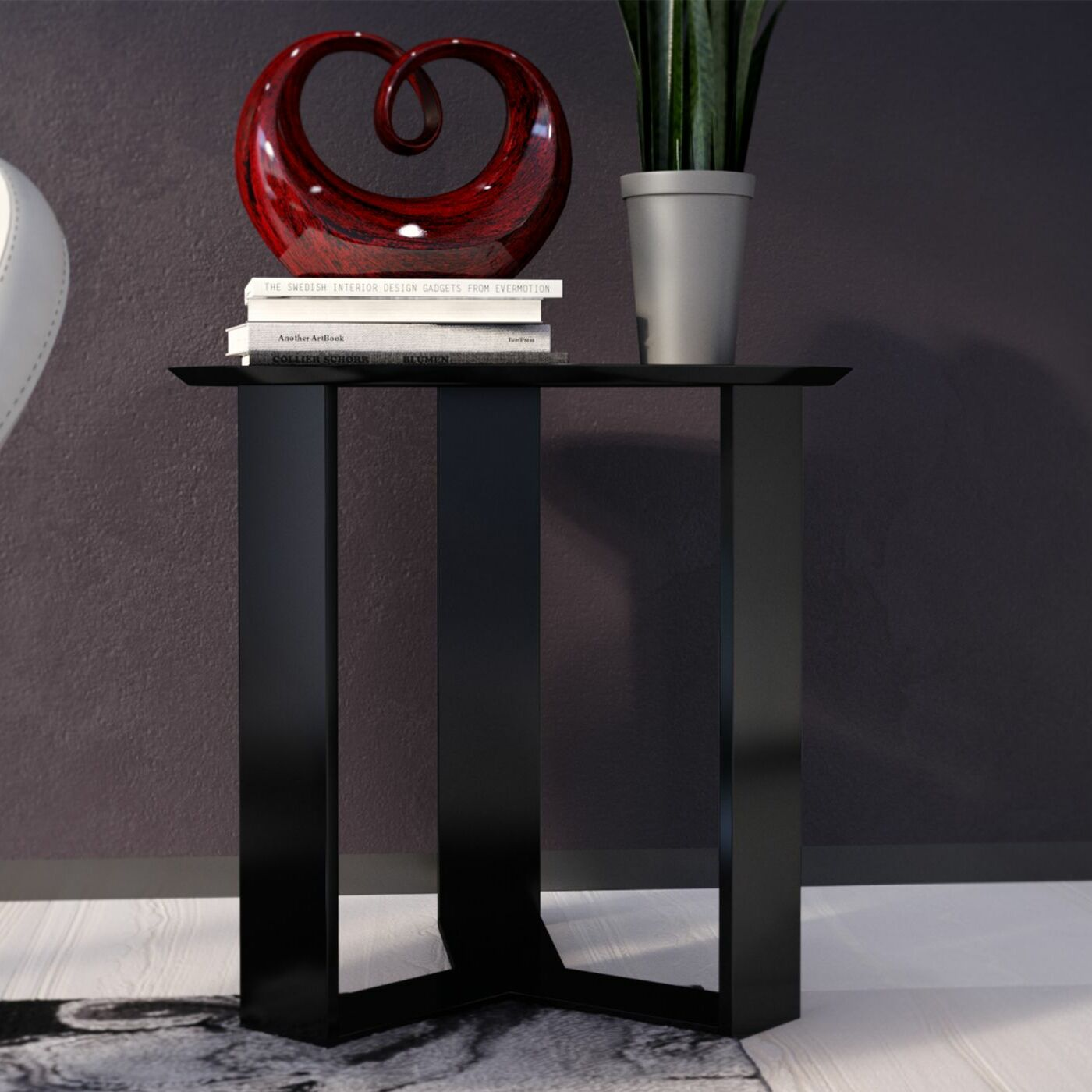 Emiliah End Table Color: Black Gloss