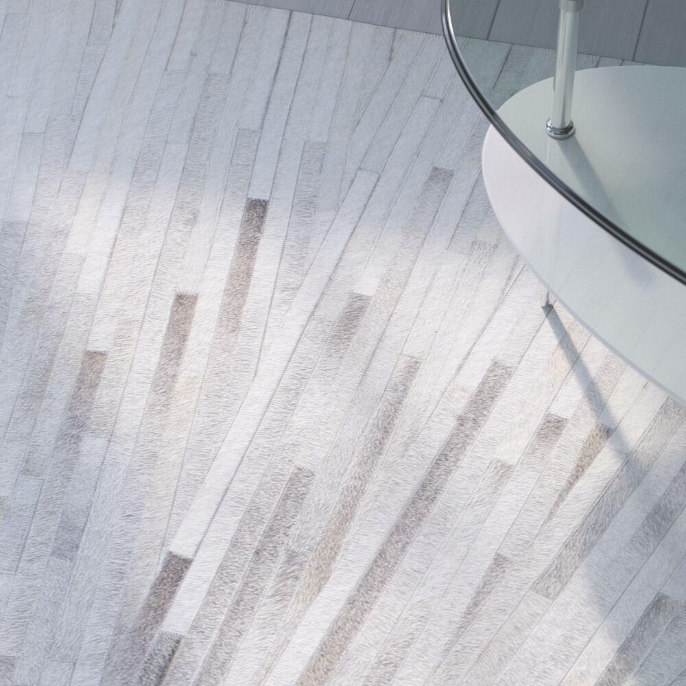 Davi Cowhide Gray Area Rug Rug Size: Rectangle 8' x 10'