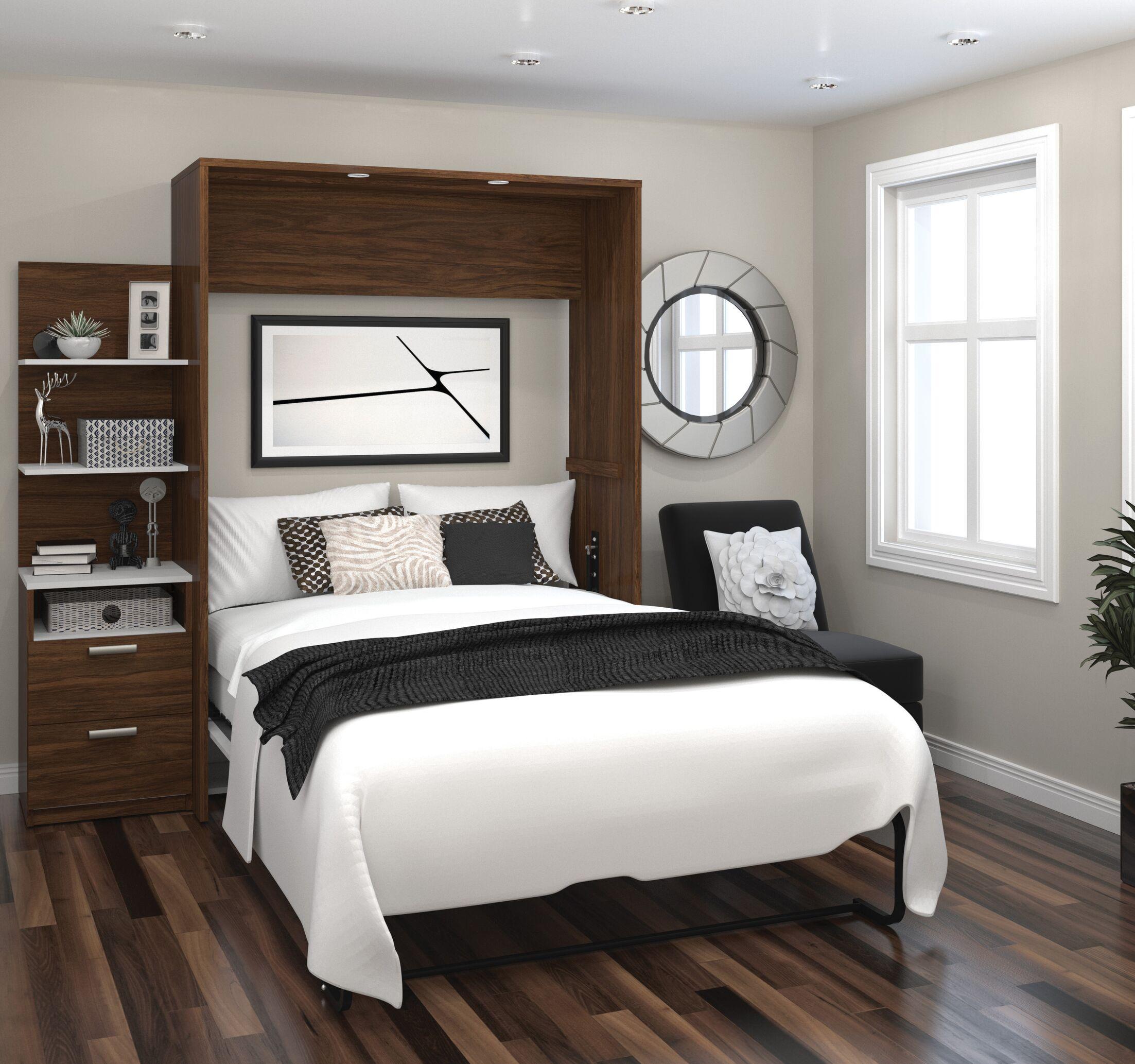 Medan Murphy Bed Size: Full, Color: Oak Barrel