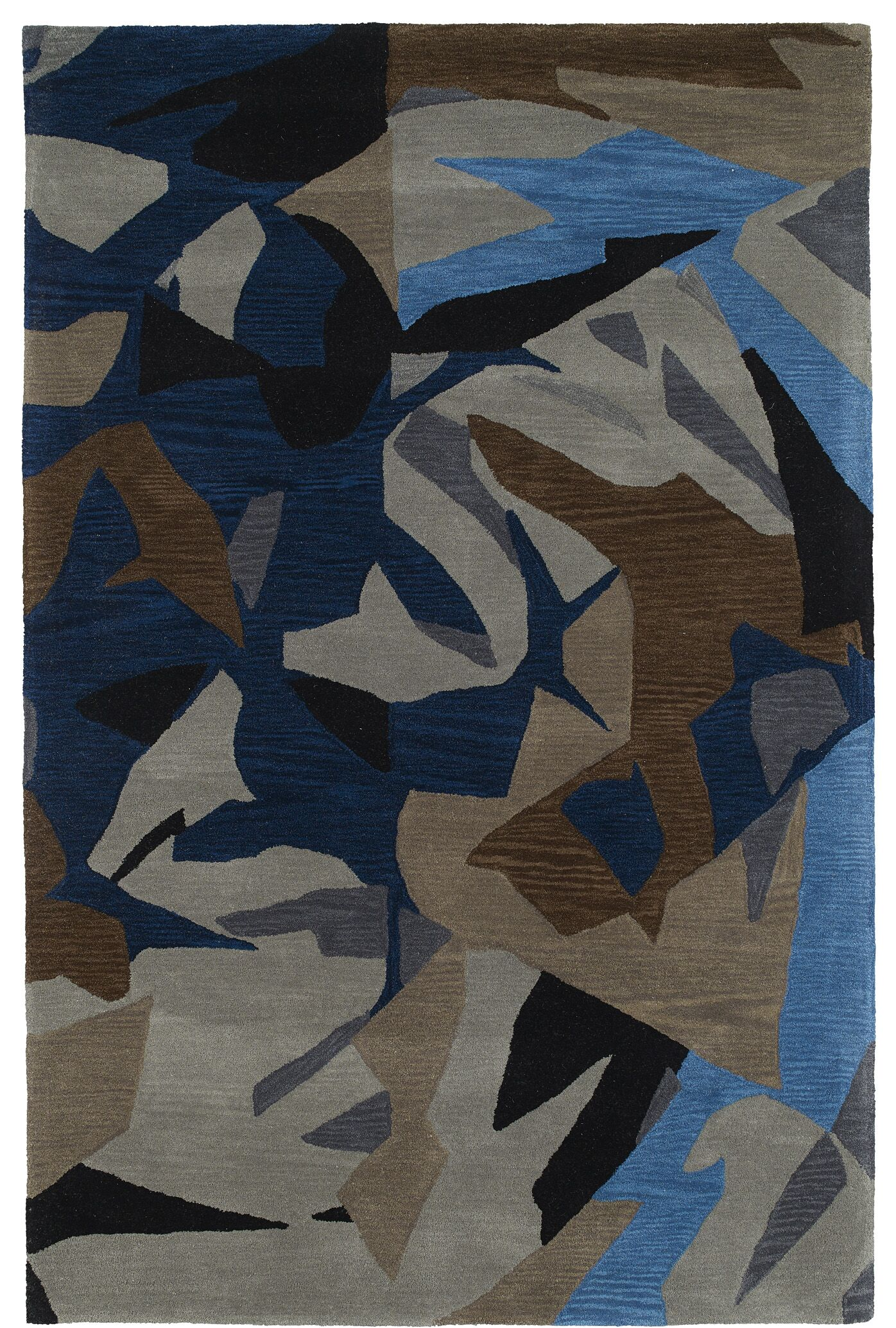 Charlayne Hand Tufted Blue/Brown Area Rug Rug Size: Rectangle 3' x 5'