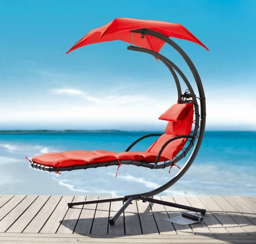Hornback Dream Hanging Chaise Lounger Cushion Color: Red
