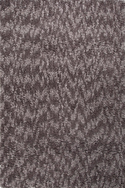 Alderamin Gray / Brown Shag Area Rug Rug Size: 4' x 6'