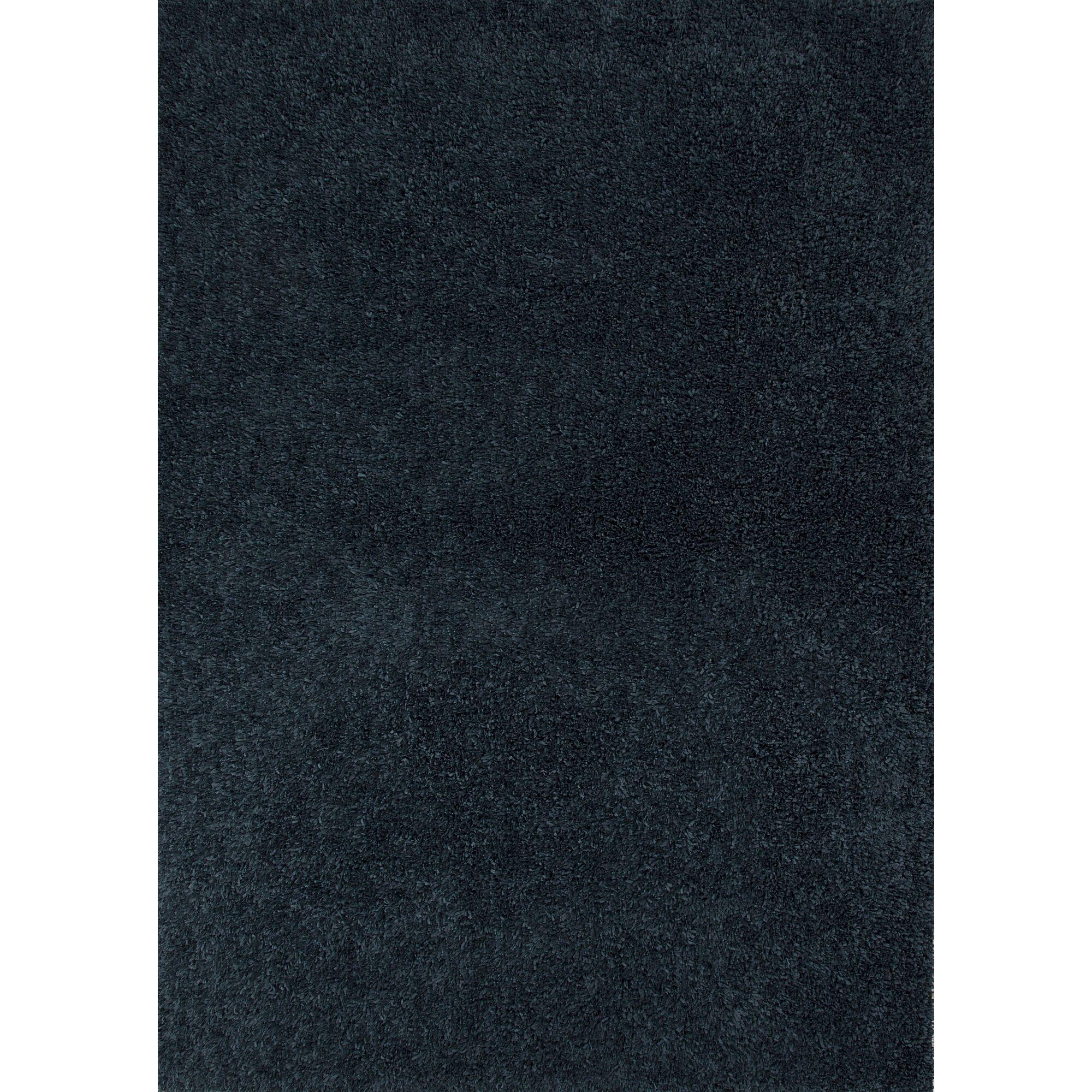 Brys Polyester Blue Shag Area Rug Rug Size: 7'6