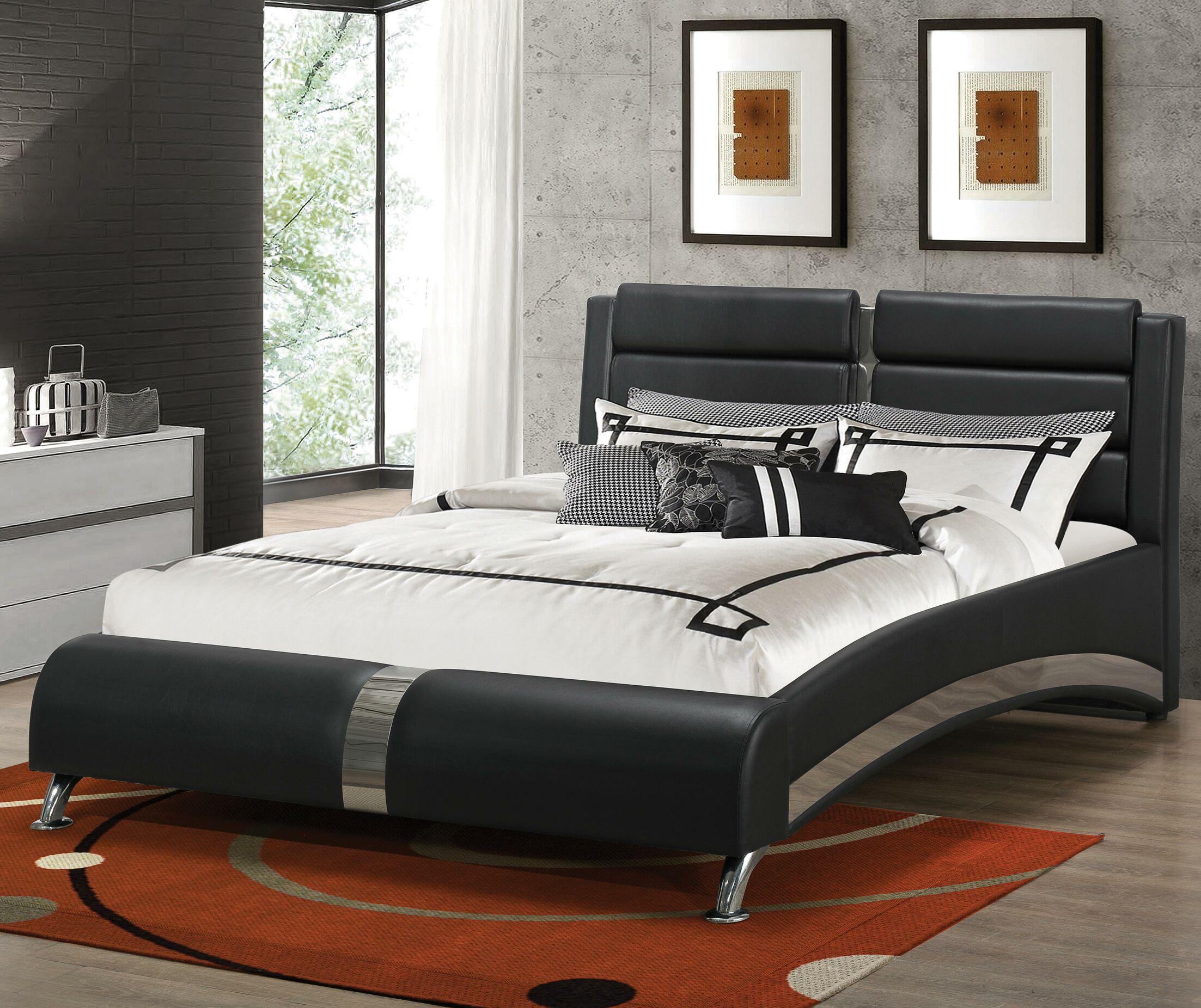Mallory Upholstered Platform Bed Size: King