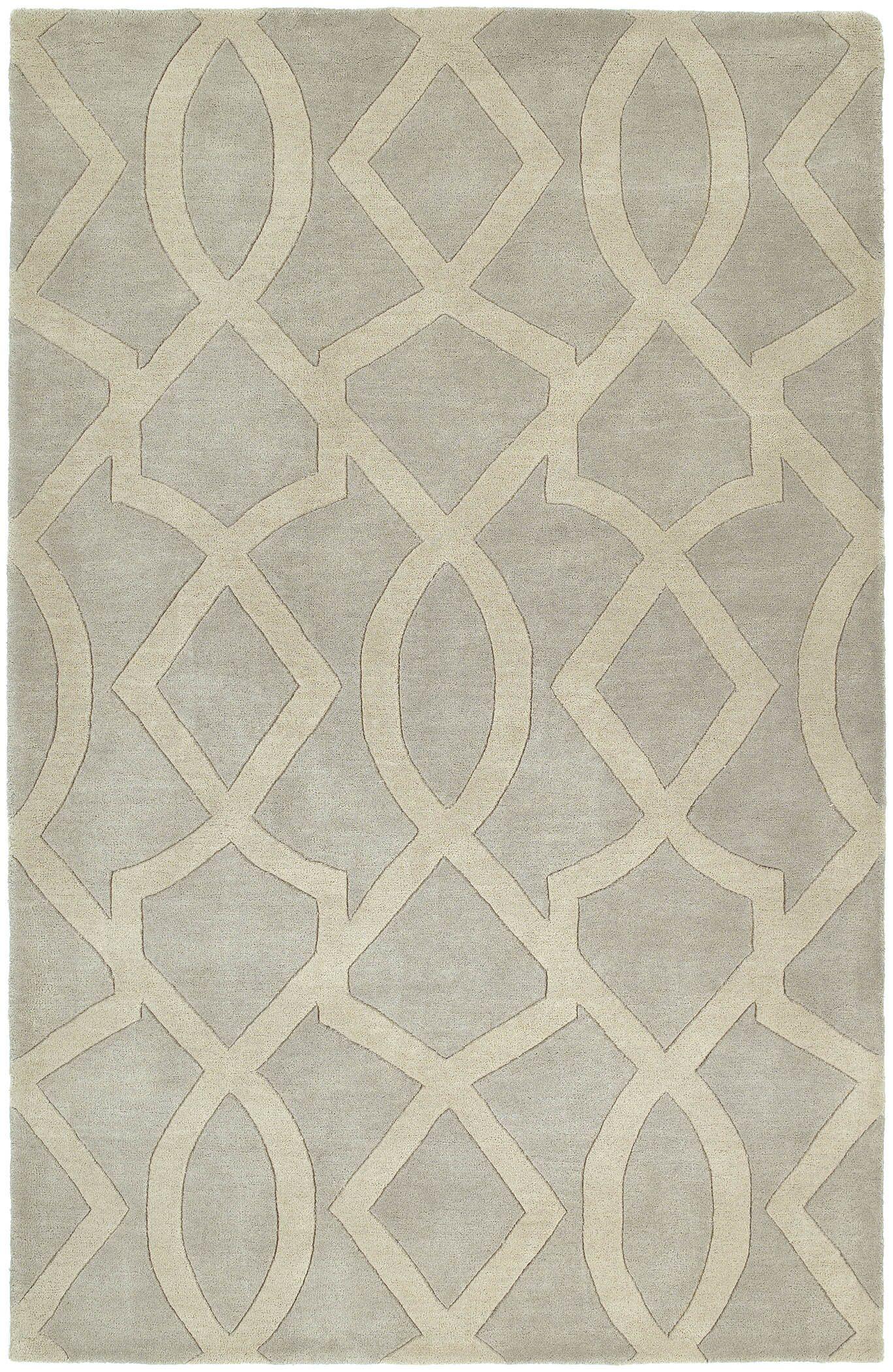 Brooks Hand-Tufted Ivory/Gray Area Rug Rug Size: Rectangle 3' x 5'
