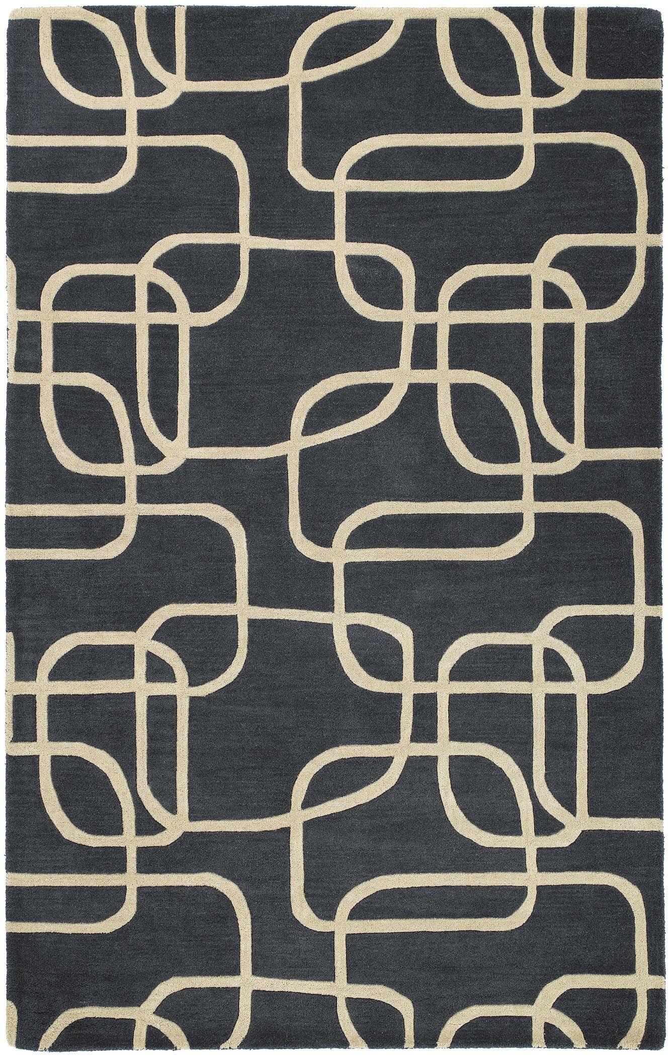 Carter Ebony Area Rug Rug Size: Rectangle 5' x 7'9