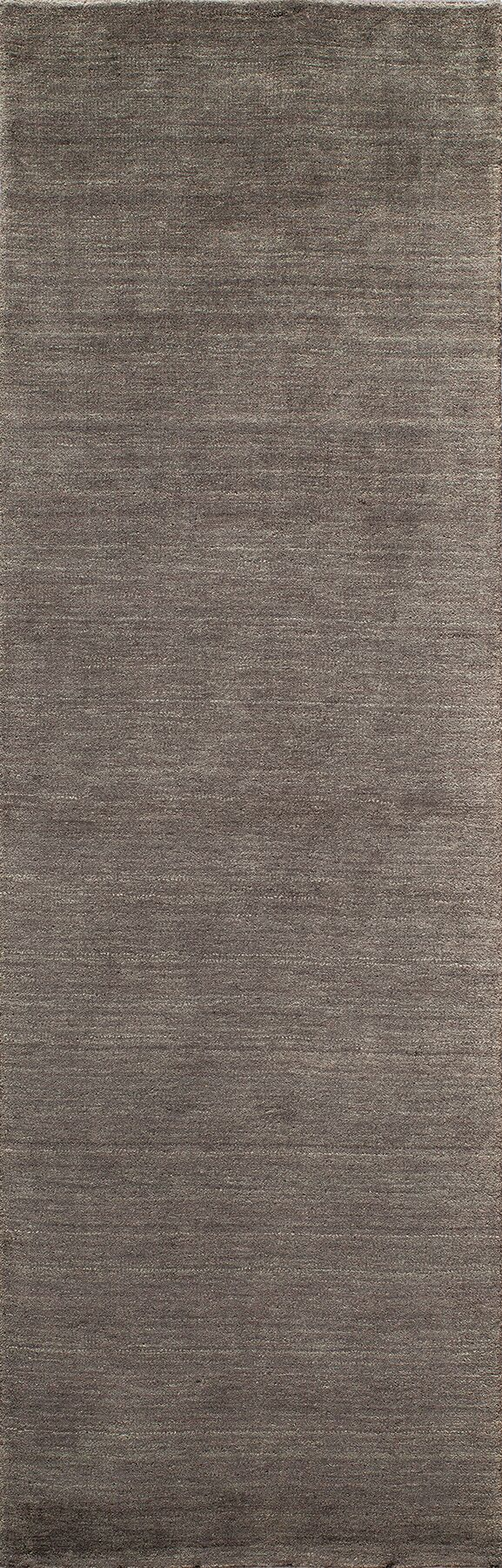 Christensen Hand-Woven Charcoal Area Rug Rug Size: Rectangle 3'6