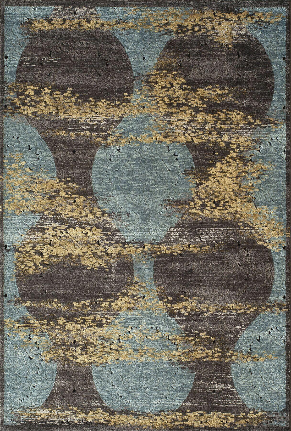 Charleena Blue Ikat Rug Rug Size: Rectangle 6'7