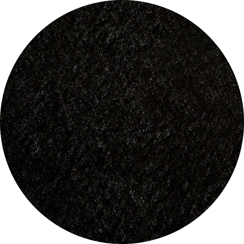 Ciera Hand-Tufted Black Area Rug Rug Size: Round 4'