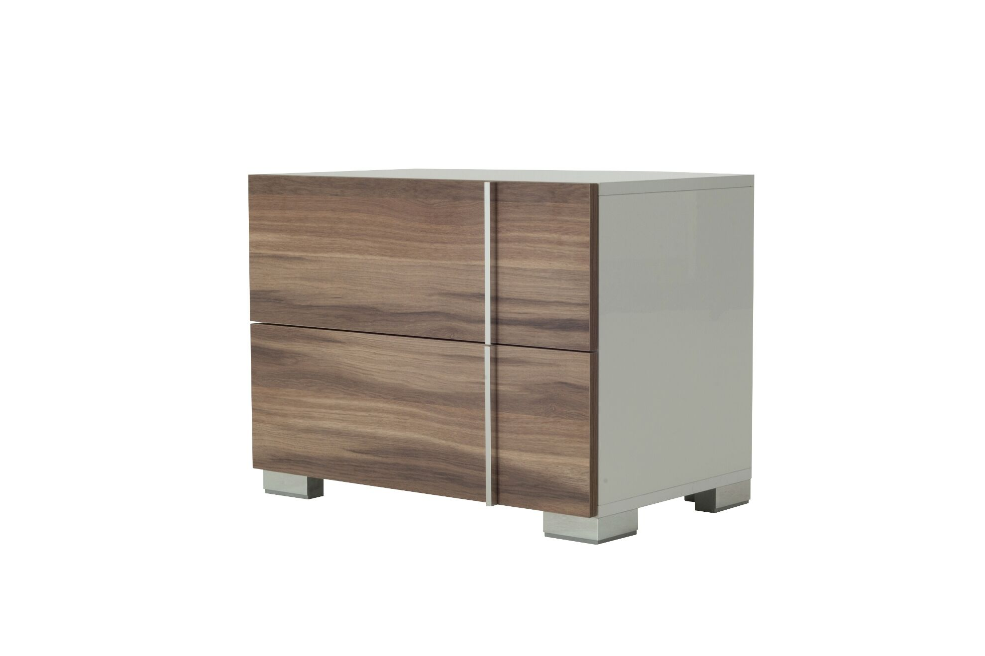 Cobbey 2 Drawer Nightstand Color: White / Cherry, Orientation: Right Facing