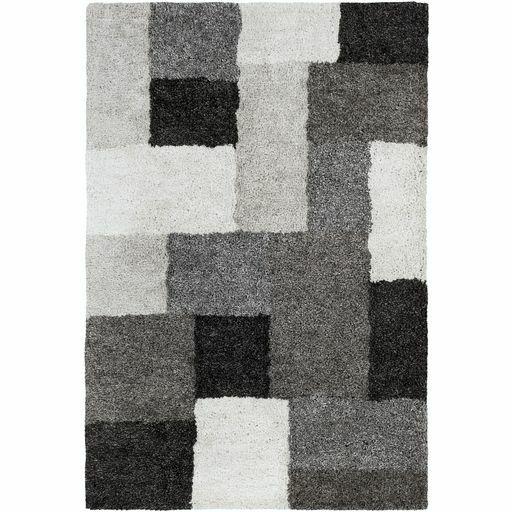 Annie Geometric Hand-Tufted Ivory/Black Area Rug Rug Size: Rectangle 8' x 10'