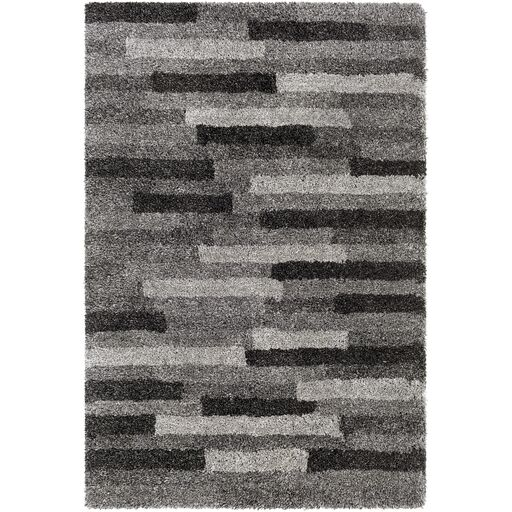 Annie Hand-Tufted Ivory/Black Area Rug Rug Size: Rectangle 8' x 10'