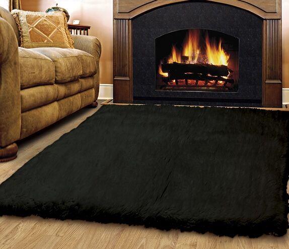 Brandie Wool Black Area Rug Rug Size: Rectangle 5' x 8'