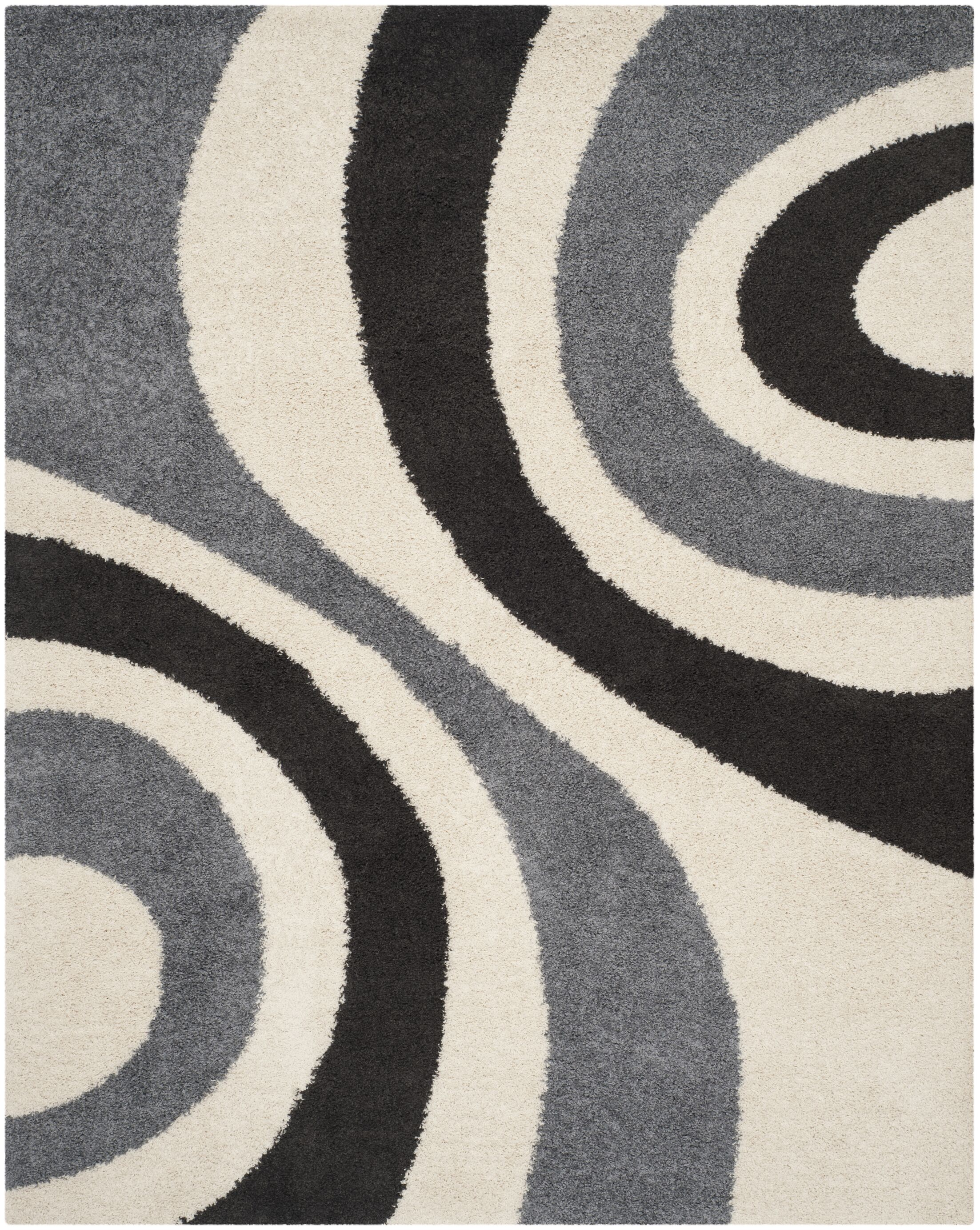 Swanson Ivory & Grey Contemporary Area Rug Rug Size: Rectangle 8' x 10'