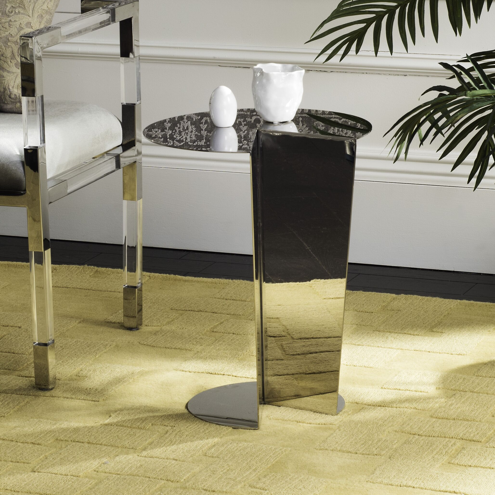 Ann Stainless Steel End Table